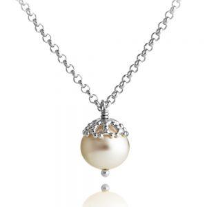 Jersey Pearl Emma-Kate Pendant, Silver