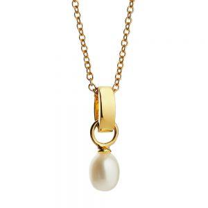 Jersey Pearl VIVA Pendant, Gold