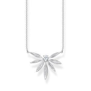 Thomas Sabo Silver Leaf Necklace KE1949-051-14-L45V