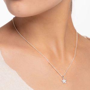 Thomas Sabo Silver annd White Stone Pave Star Necklace KE2052-051-14