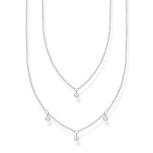Thomas Sabo White Stones Double Necklace KE2078-051-14