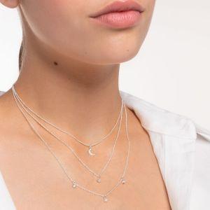 Thomas Sabo White Stones Double Necklace KE2078-051-14