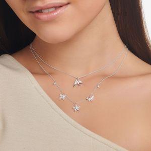 Thomas Sabo Flower Drop Necklace in Silver KE2100-051-14-L45V