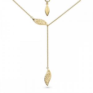 Kit Heath Blossom Eden Slider Leaf Gold Plate Lariat 17