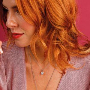 Kit Heath Desire Precious White Topaz Small Heart Necklace KH90505WT