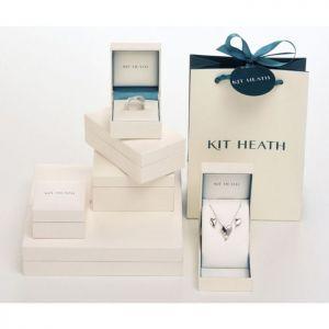 Kit Heath Blossom Eden SmallLeaf Gold Plate Hoop Drop Earrings