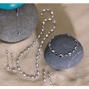 Kit Heath Coast pebbles Chain Drop Earings