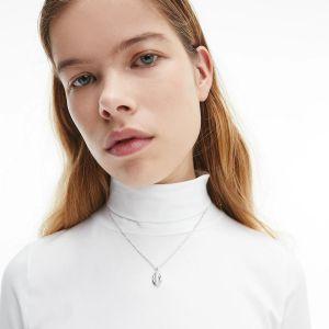 Calvin Klein Silver Tone Statement Necklace