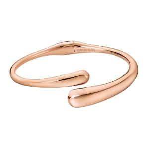 Calvin Klein Ellipse Rose Gold Tone Open Bangle KJDMPF10010M