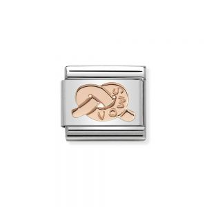 Nominations Composable Classic knot of vows Rose Gold charm - 430101_24