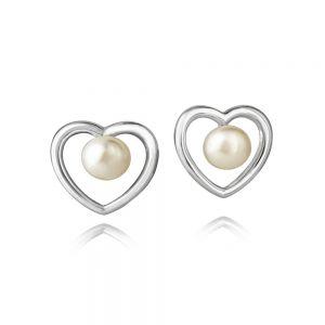 Jersey Pearl Kimberley Selwood Silver and Pearl Earrings 1605761