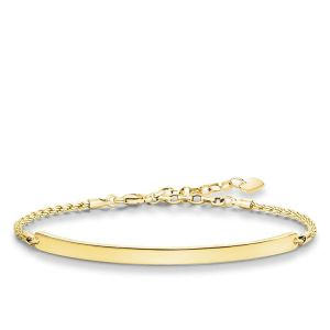 Thomas Sabo Classic Love Bridge Bracelet - 18k Gold Plating - LBA0008-413-12