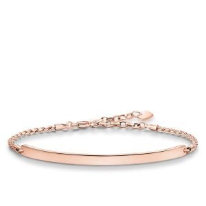 Thomas Sabo Classic Love Bridge Bracelet - Rose Gold - LBA0008-415-12