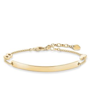 Thomas Sabo Glam Infinity Heart Love Bridge Bracelet - 18k Gold - LBA0100-413-12