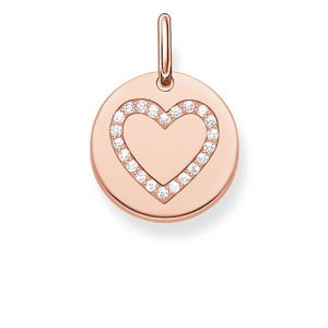 Thomas Sabo Heart Disc Pendant - Rose Gold