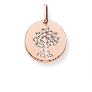 Thomas Sabo Tree Disc Pendant, Rose Gold