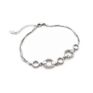 Sarah Alexander Limelight Crystal Silver Bracelet sa-limelight-b