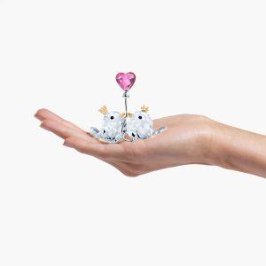 Swarovski Crystal Love Birds - Pink Heart - 5492226