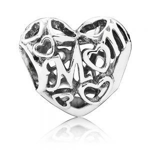 Pandora Openwork Mum Heart Charm 791519