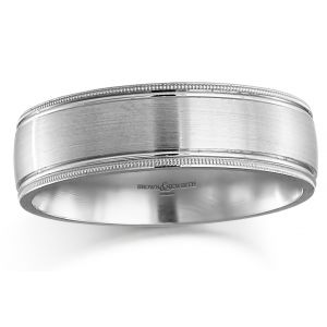 Brown & Newirth 'Cygnus' Mens Wedding Band, For Him