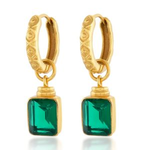 Shyla London Margot Earrings - Emerald Green