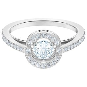 Swarovski Sparkling Dance Round Ring, White, Rhodium Plating 5482516, 5482000, 5465280, 5482518, 5482513