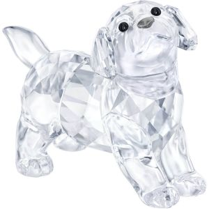 Swarovski Crystal Labrador Puppy, Standing, Clear