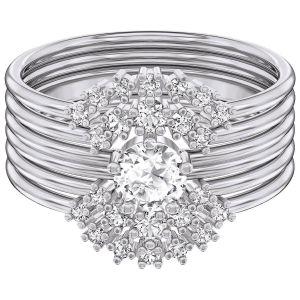 Swarovski Penélope Cruz Moonsun Ring Set, White, Rhodium Plating