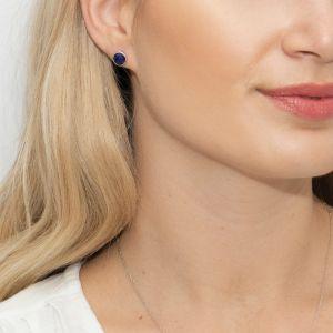 Sarah Alexander Midnight Kiss Cloudy Blue Kyanite Stud Earrings