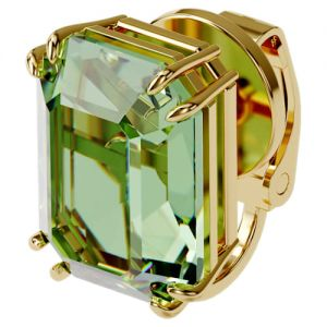Swarovski Millenia Single Clip Earring - Green with Gold Tone Plating