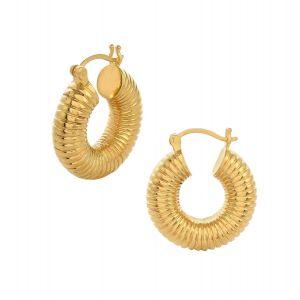 Shyla London Monica Ribbed Hoop Earrings