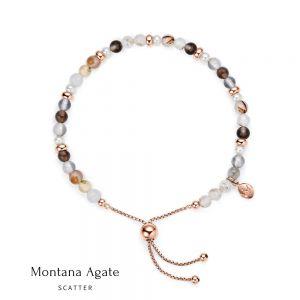 Jersey Pearl Sky Bracelet - Scatter Style in Montana Agate