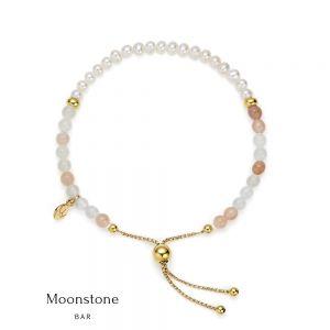 Jersey Pearl Sky Bracelet, Bar Style in Moonstone