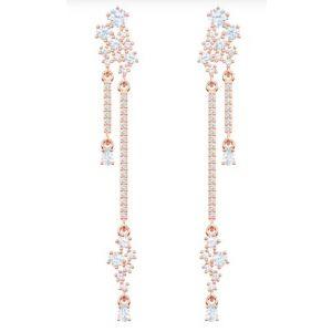 Swarovski Penélope Cruz Moonsun Drop Pierced Earrings, White, Rose Gold Plating