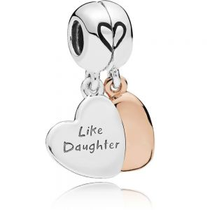 Pandora Mother & Daughter Heart Split Dangle Charm - 787783EN16