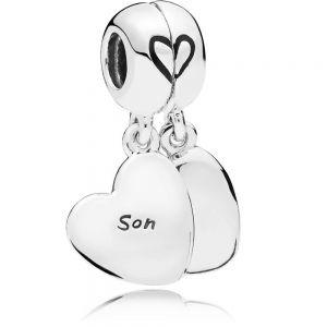 Pandora Mother & Son Heart Split Dangle Charm - 797777EN16