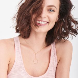 Ania Haie Orbit Drop Circle Necklace