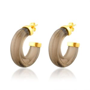 Shyla London Nairobi Hoop Earrings - Smoky