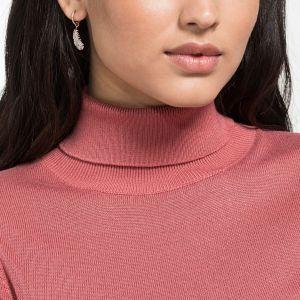Naughty Hoop Pierced Earrings, White, Rose-Gold Tone Plated 5497872