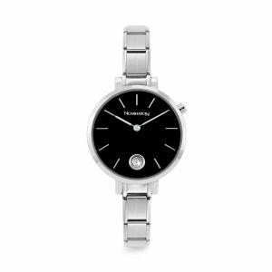 Nomination Paris Round Black and Silver Cubic Zirconia Charm Watch 076033_012