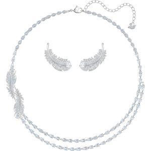 Swarovski Nice Set, White, Rhodium Plating 5517161