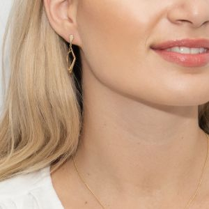 Sarah Alexander Notorious Pave Zirconia Geometric Gold Vermeil Earrings
