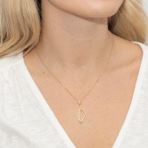 Sarah Alexander Notorious Pave Zirconia Geometric Gold Vermeil Pendant