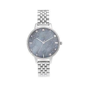 Olivia Burton Celestial Night Sky Demi Dial Silver Bracelet Watch OB16GD65