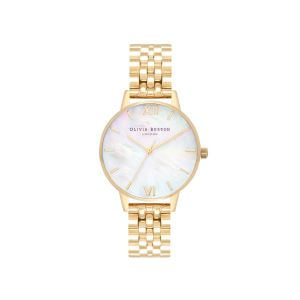 Olivia Burton Mother Of Pearl Dial and Gold Bracelet Watch OB16MOP01