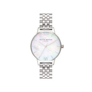 Olivia Burton Mother of Pearl Midi Dial Silver Bracelet Watch OB16MOP02