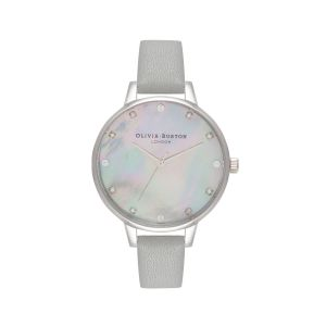 Olivia Burton Mother Of Pearl Demi Dial Grey and Silver Watch OB16SE16