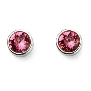 October Birthstone Earrings - Sterling Silver