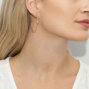 Sarah Alexander Oracle Aqua Calci Hoop Earrings
