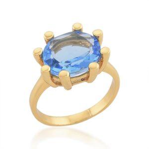 Shyla London Oval Claw Ring - Blue